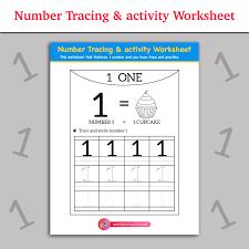 number tracing u0026 activity worksheet inky treasure