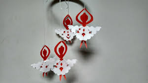 diy paper wall hanging home decoration idea for diwali