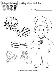 cooking worksheet free kindergarten learning worksheet