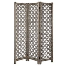 Folding Screens Room Dividers by Silver Quatrefoil Folding Screen Room Divider Scenario Home