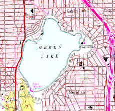 seattle map green lake topographic map exercise