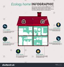 eco home infographic ecology green house stock vector 317526257