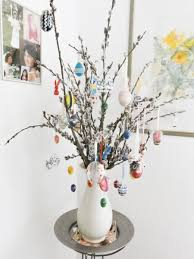 easter egg tree decorations easter in germany bavaria in a black diary