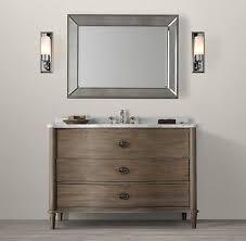 Restoration Hardware Bathroom Cabinets Empire Rosette Bath Collection Antiqued Grey Rh