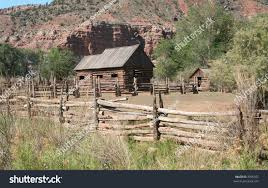 Rustic Cabin Abandoned Old Rustic Cabin Outbuilding On Stock Photo 3395397