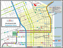 Portland Bike Map by Portland Or Railfan Guide
