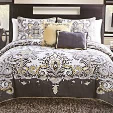 Yellow Bedding Set Soothing Grey Bedding Yellow Grey Bedding Sanderson Wisteria