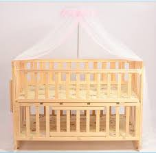 Baby Crib Bed Solid Wood Baby Crib Newborn Infant Baby Bed Environmental