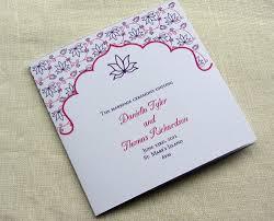 Wedding Ceremony Program Sample Indian Wedding Program Floral Lotus Ceremony Program
