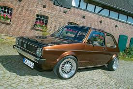 volkswagen caribe tuned 1983 volkswagen golf i chocolate brown becomes car of a special kind