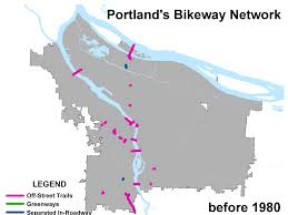Portland Bike Maps by New And Improved Animation Of Portland U0027s Bike Network And My