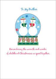 snow globe u0026 two snowmen christmas card by sunrise greetings