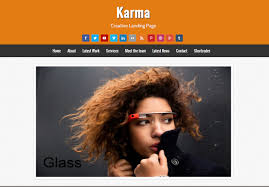landing page templates for blogger karma creative landing page templates blogger template blogger