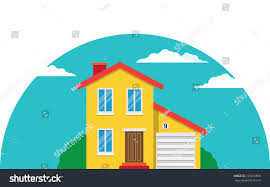 vector simple house your advertisement design stock vector