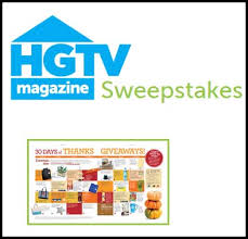 hgtv sweepstakes thanksgiving giveaway sweeps maniac
