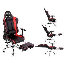 reclining gaming desk chair merax big and tall back ergonomic racing style computer gaming