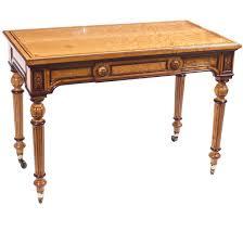 antique gillows style birdseye maple writing table desk circa