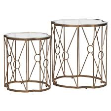 brass and glass end tables 2 x antique brass glass end tables mulberry moon