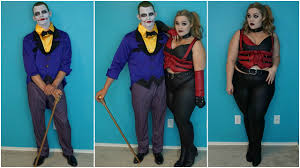 joker u0026 harley quinn halloween costumes u0026 makeup tutorial youtube
