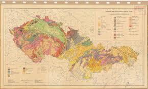 Map Of Czech Republic Soil Map Czech Republic Prehledna Geologika Mapa Cssr Esdac