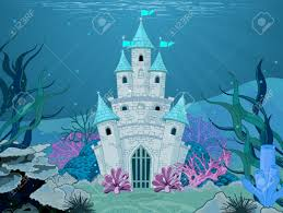 magic fairy tale mermaid princess castle royalty free cliparts