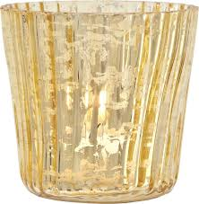 mercury tea light holders amazon com luna bazaar vintage mercury glass candle holders 3 inch