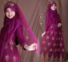 tutorial hijab syar i untuk pernikahan model gaun pengantin muslimah terbaru dan syar i jilbab