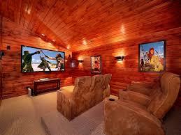 bedroom home theater 5 bedroom gatlinburg cabin rental with home theater room pittman