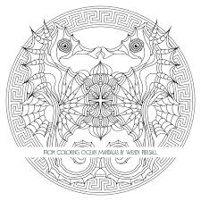 coloring ocean mandalas u2013 preview book