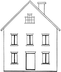 Home Clipart House Clipart Coloring Black White Clipartion Com