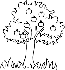 tree outline clip art library