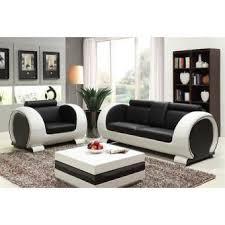 canap fauteuil cuir canapé fauteuil cuir vachette noir blanc achat prix fnac