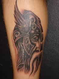 black ink celtic viking thor hammer tattoo for men real photo