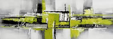 tableau panoramique gris noir et vert toiles panoramiques