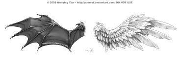 image result for and evil wing tattoos for on back