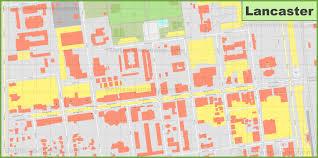 Lancaster Map Lancaster Downtown Map