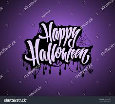 halloween lettering templates happy halloween lettering text illustration stock vector 502645819