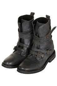 grey motorcycle boots topshop arrested buckle biker boots in gray lyst