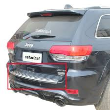 jeep chrome new safaripal rear bumper trim step pad for jeep grand cherokee