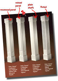 basics for choosing square non tapered columns