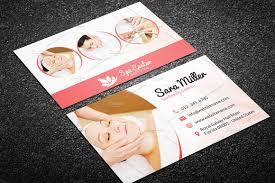 Sports Massage Business Cards Beauty Salon Spa Business Card 40 Business Card Templates
