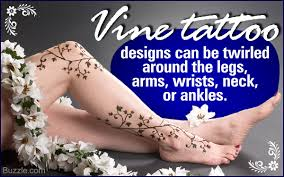 vine tattoo on side