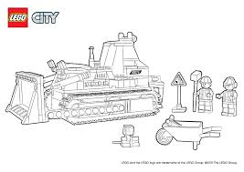 60074 bulldozer colouring page lego city activities city