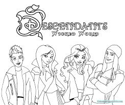 free cartoon descendants coloring pages kids