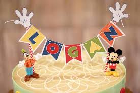 kara u0027s party ideas cake bunting from a mickey mouse 1st birthday