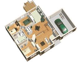 plan maison simple 3 chambres maison 3 chambres avec garage attenant maison idées amenagement