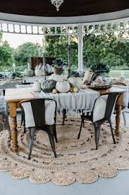 Farmhouse Table Centerpiece Dining Room Rustic With Arched Doorway 50 Absolutely Gorgeous Farmhouse Fall Decorating Ideas