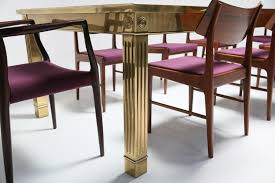 extendable brass dining table from mastercraft for sale at pamono