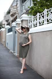 Maternity Drape Dress Vanilla Blonde Mamameah Khaki Drape Dress And The Lumpy Bump