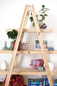 Leaning Shelves Woodworking Plans by Best 25 Wooden Ladder Shelf Ideas On Pinterest Old Ladder Shelf